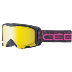 Маска горнолыжная CEBE Bionic Matt Black Pink - Yellow Flash Mirror Cat.1 детская