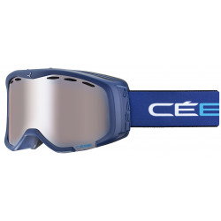 Маска горнолыжная CEBE Cheeky OTG Matt Blue White - Orange Flash Mirror Cat.2 детская