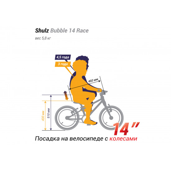 Велосипед SHULZ Bubble 14 Race детский