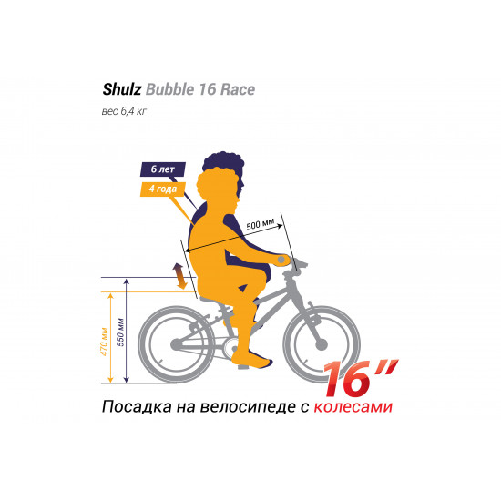 Велосипед SHULZ Bubble 16 Race детский